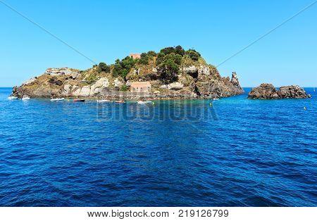Lachea Island On Aci Trezza, Sicily Coast