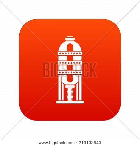 Capacity for oil storage icon digital red for any design isolated on white vector illustration