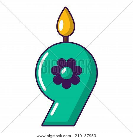 Candle numeral icon. Cartoon illustration of candle numeral vector icon for web