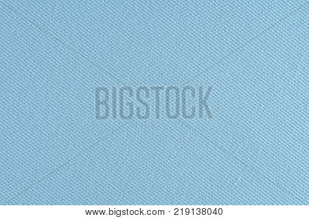 Blue fabric texture. Abstract background empty template.