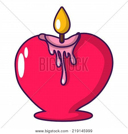Candle romance icon. Cartoon illustration of candle romance vector icon for web