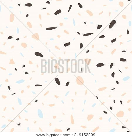 Imitation of the surface of the stone floor from granite particles. Semaless pattern. Vector illustration Background for print home decor, interior, fabric, textile, paper, wrapping, Wallpaper, covers