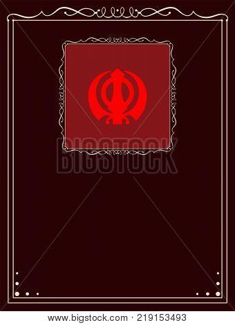 Ek Onkar, Khanda The Holy Motif Raster Illustration