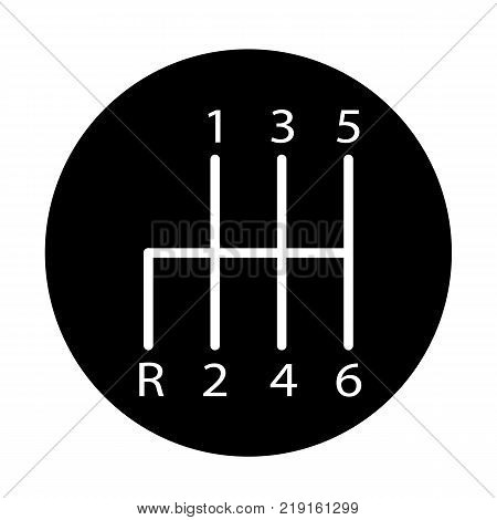 manual transmission icon on white background. manual transmission sign. flat style.