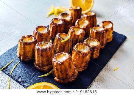 french dessert with orange zest
