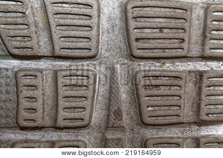 Obsolete shoe soles texture sport background  for web site or mobile devices