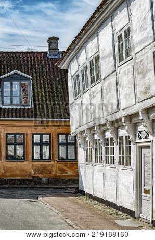 A couple of the many quaint little buildings in the old town of Helsingor in Denmark.