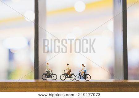 Travellers With Bicycle On Wood Bridge