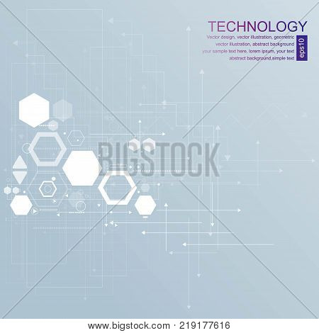 vector background abstract technology communication concept. esp 10.