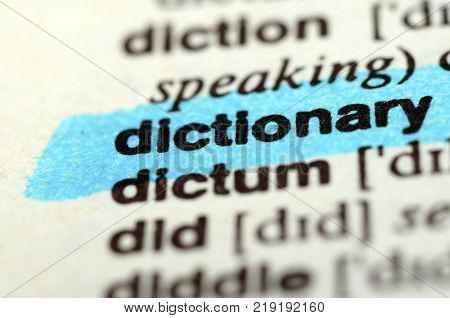 Dictionary Word, Close Up