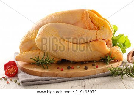 raw chicken with ingredients