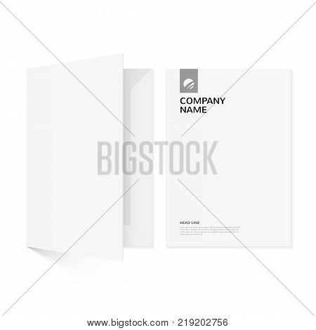 Folder for documents. An element of corporate identity. Isolated on white background. Template for your design.