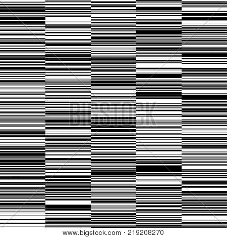 Black and White Straight Horizontal Variable Width Stripes, Monochrome Lines Pattern, Horizontal Seamless, Straight Parallel Horizontal Lines, Fashion Geometric Monochrome Random Background