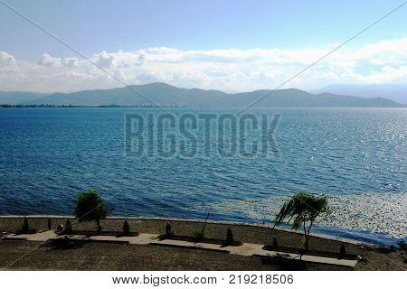 Surroundings of the Ohrid Lake Albania and Macedonia boarder