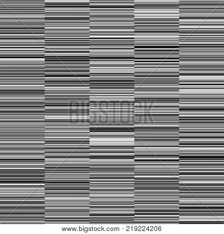 Monochrome  Straight Horizontal Variable Width Stripes, Monochrome Lines Pattern, Horizontal Seamless, Straight Parallel Horizontal Lines, Fashion Geometric Monochrome Random Background