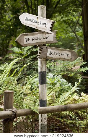 A sign helping with life direction decisions