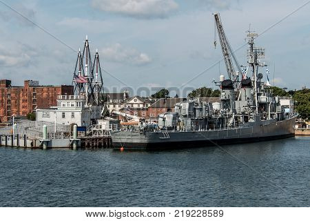 Boston massachusetts USA USS Cassin Young Fletcher class destroyer National Historic Landmark