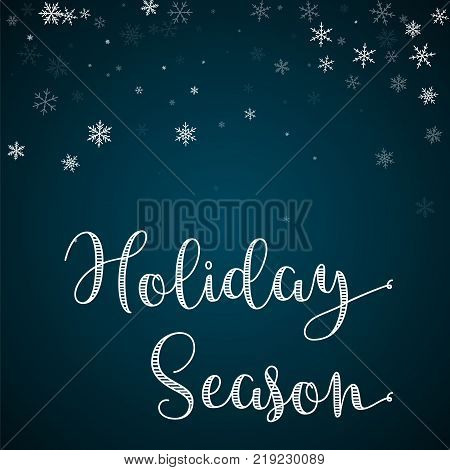 Holiday season greeting card vector photo bigstock holiday season greeting card sparse snowfall background sparse snowfall on blue background magnif m4hsunfo
