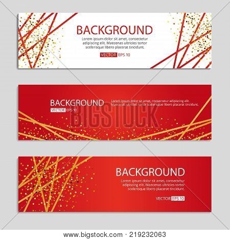 gold red banner sparkles background streamer background golden ribbon sparkling glitter christmas holidays