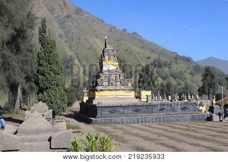 Luhur Poten Temple In Bromo Mountain, Indonesia