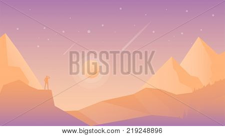 Vector Landscape Two Vector Photo Free Trial Bigstock