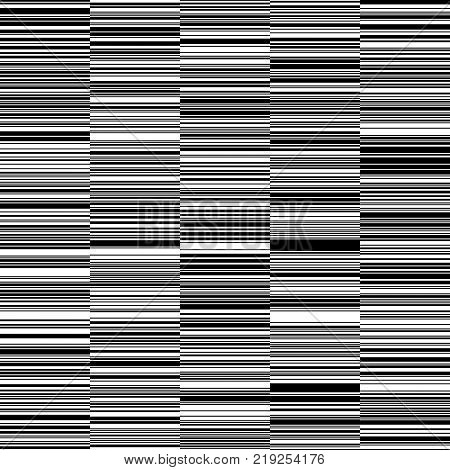 Black and White Straight Horizontal Variable Width Stripes, Monochrome Lines Pattern, Horizontal Seamless, Straight Parallel Horizontal Lines, Fashion Geometric Monochrome Random Background