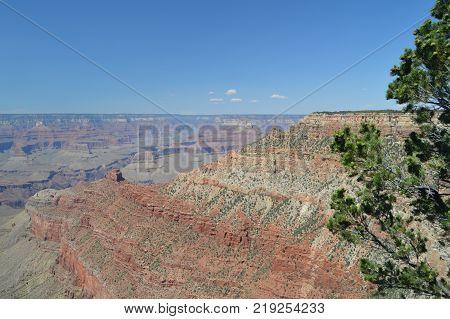 Grand Canyon Of The Colorado River. South Kaibab Trailhead. Geological formations. June 22 2017. Grand Canyon Arizona USA. EEUU.