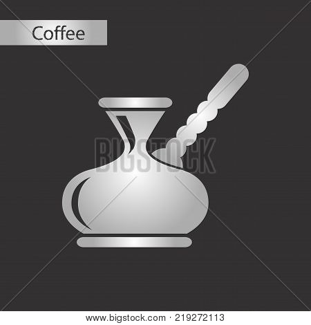 black and white style coffee arabic turk poster