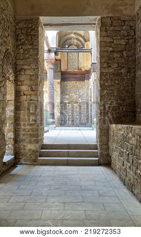 Passage at the complex of Sultan Qalawun Al Moez Street Cairo Egypt