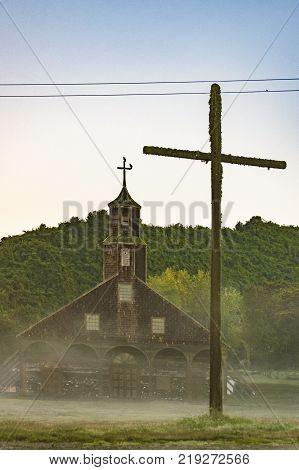 Quinchao Church, Chiloe Island, Chile