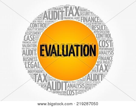 Evaluation Word Cloud Collage Business Concept Background