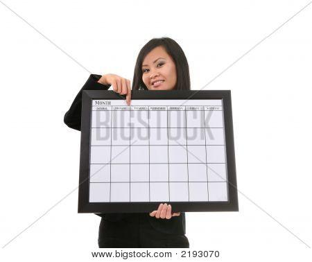 Frau mit Kalender