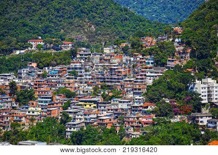 favela in the city of rio de janeiro