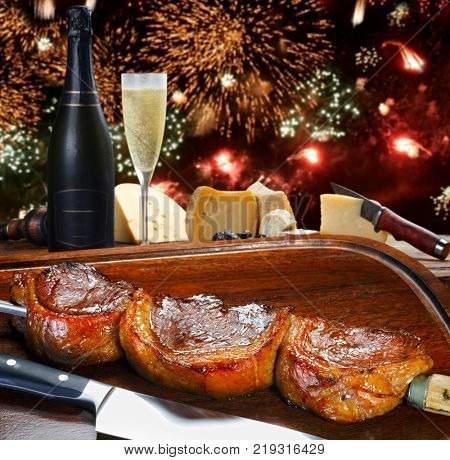 End of year party at the steakhouse