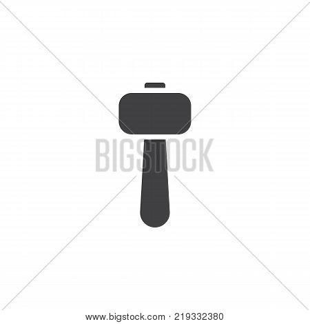 Hammer icon vector, filled flat sign, solid pictogram isolated on white. Sledgehammer symbol, logo illustration