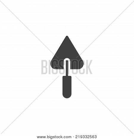 Trowel for brickwork icon vector, filled flat sign, solid pictogram isolated on white. Symbol, logo illustration