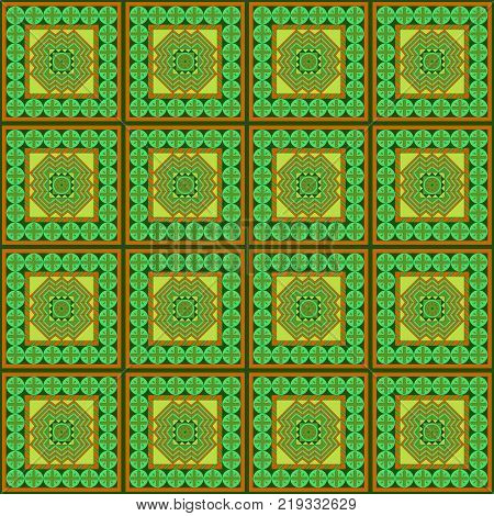 Seamless pattern with geometrical patterns in the Arab style.