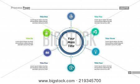 Six Options Process Chart Slide Template Business Data Scheme Point Design