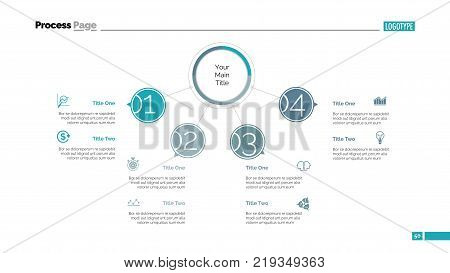 Four Points Process Vector Photo Free Trial Bigstock