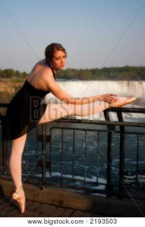 Ballerina By The Falls