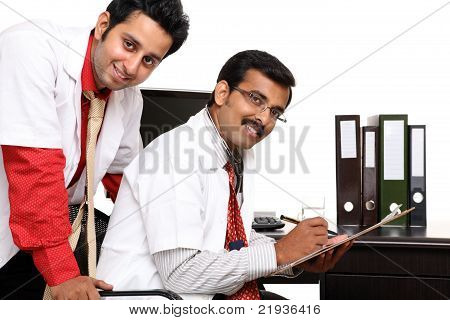 Two Indian young doctor's
