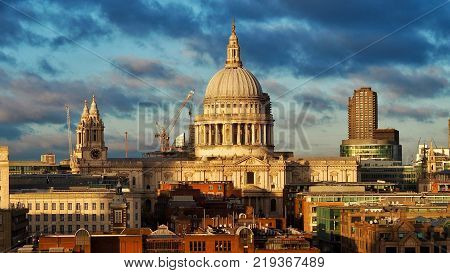St Pauls Cathedral and City of London Skyline