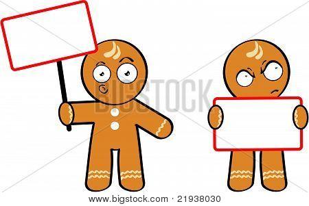 cookie kid cartoon singboard