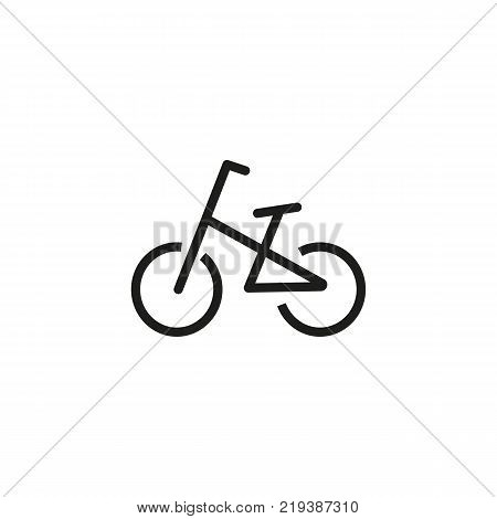 Line icon of bicycle. Cycling sport, bicycle trail, bicycle parking sign. Transport concept. Can be used for topics like sport, transportation, leisure