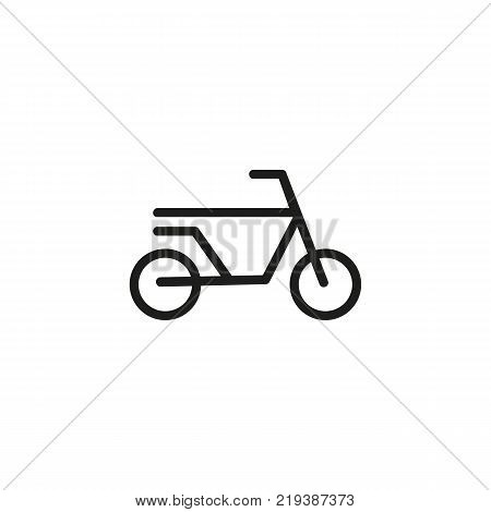 Line icon of bicycle sign. Bicycle race, bicycle trail, bike hire. Transport concept. Can be used for topics like sport, transportation, leisure