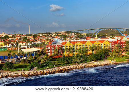 City of Willemsted on the Coast of Curacao