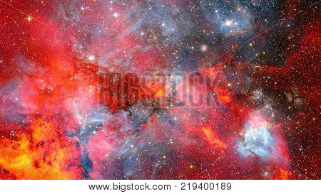 Futuristic abstract space background. Night sky with stars and nebula. Elements of this image furnished by NASA