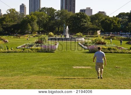 Guy Waling In City Park