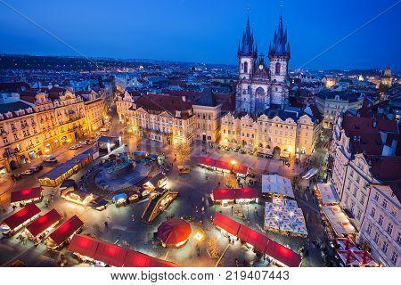 Prague, Czech Republic - April 11, 2014: Marketplace during the Easter celebrations in Prague, Czech Republic