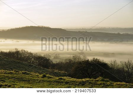 Fog Below Dundon Hayes Hill